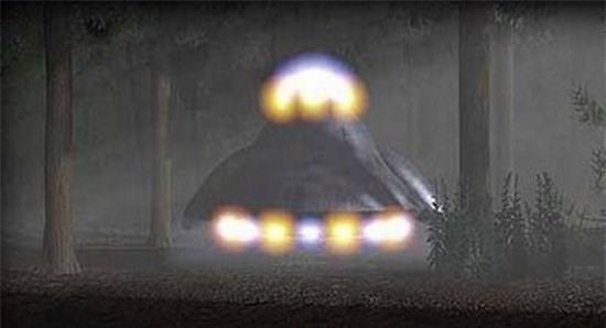 Ánh sáng phát ra từ UFO