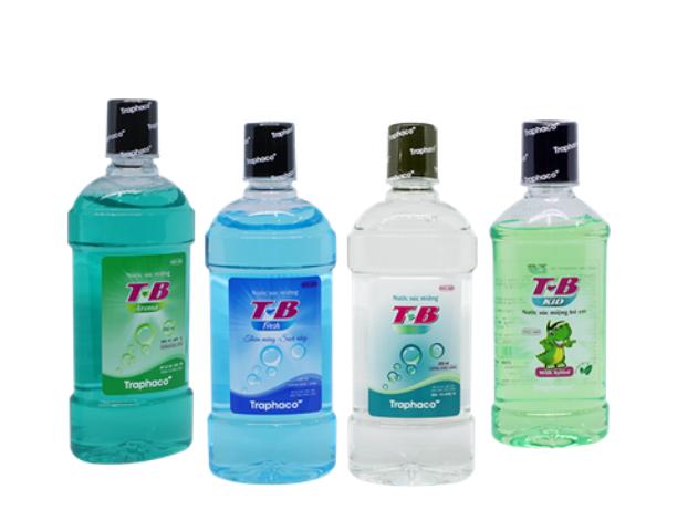 T-B có 4 loại: Aroma the mát, Fresh nhẹ nhàng, truyền thống, T-B Kid hương vị hấp dẫn