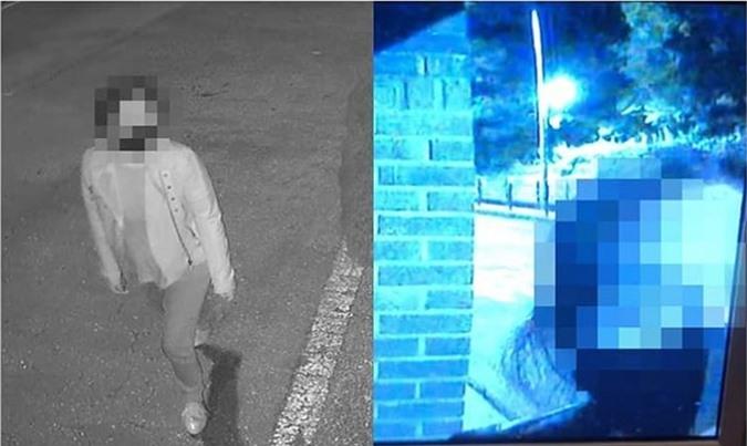 Hình ảnh CCTV ghi lại cho thấy một phụ nữ tìm đến quấy rầy nhà Kim Tae Hee - Rain.