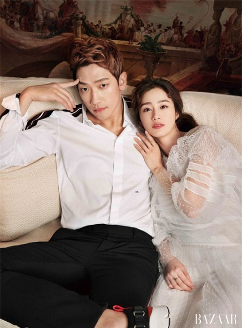 Vợ chồng Rain và Kim Tae Hee.