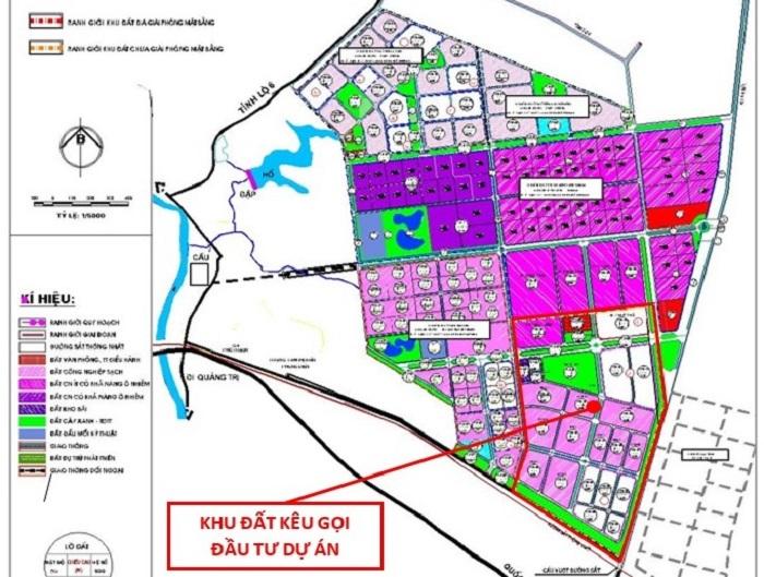 Vị trí khu đất tỉnh Thừa Thiên Huế kêu gọi đầu tư Dự án Đầu tư xây dựng và kinh doanh kết cấu hạ tầng kỹ thuật Khu A – Khu công nghiệp Phong Điền.