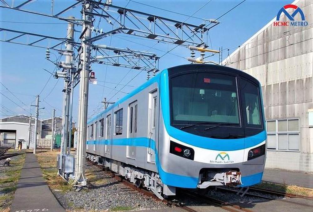 Đoàn tàu đầu tiên của tuyến metro Bến Thành – Suối Tiên tại TP.HCM.