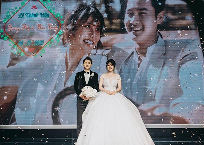 Chồng Thảo Trang quê Quảng Ngãi. Trước hôn lễ cặp đôi đã thực hiện album cưới lãng mạn ở Đà Lạt và chia sẻ những hình ảnh hạnh phúc trong buổi chụp ảnh với tất cả khách mời.