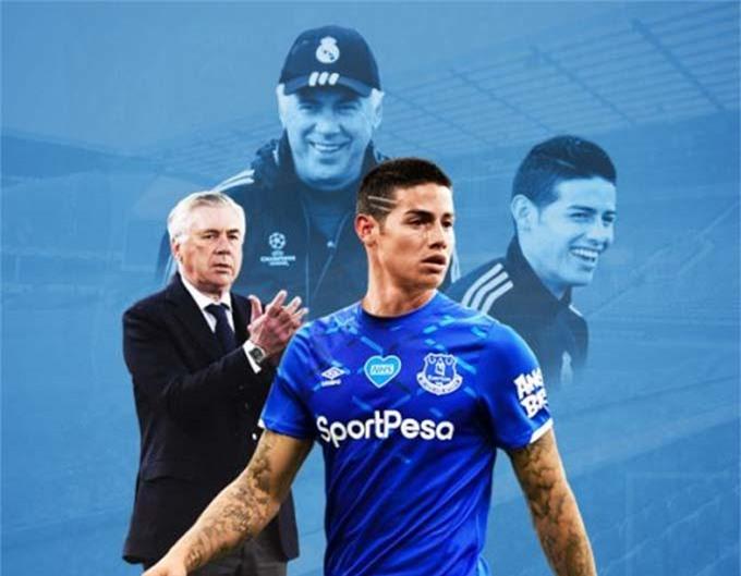 James Rodriguez giúp sức mạnh của Everton tăng lên đáng kể