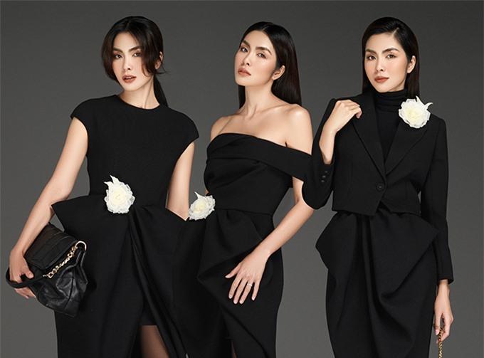Ba biểu cảm của Tăng Thanh Hà trên poster.