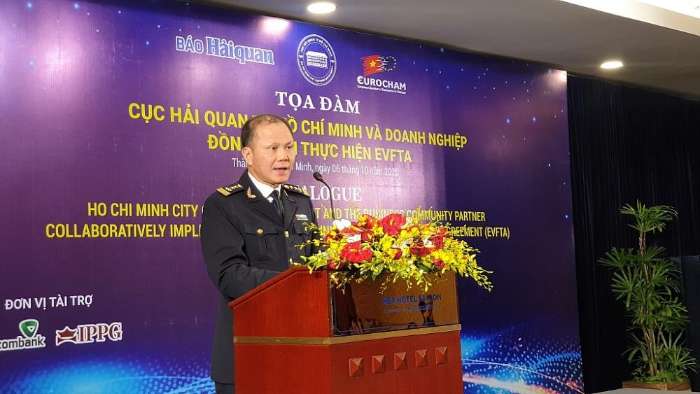 ông Đinh Ngọc Thắng - Cục trưởng Cục Hải quan TP.HCM cho biết sẽ tạo mọi điệu kiện cho doanh nghiệp thực thi EVFTA