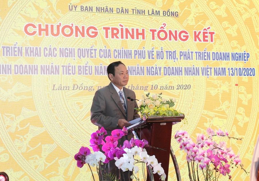 Phó Chủ tịch UBND tỉnh Lâm Đồng Nguyễn Văn Yên phát biểu tại chương trình.