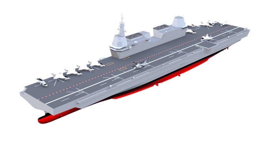 Đồ họa tàu sân bay hạng nhẹ tương lai của Hải quân Hàn Quốc. Ảnh: Janes Defense.
