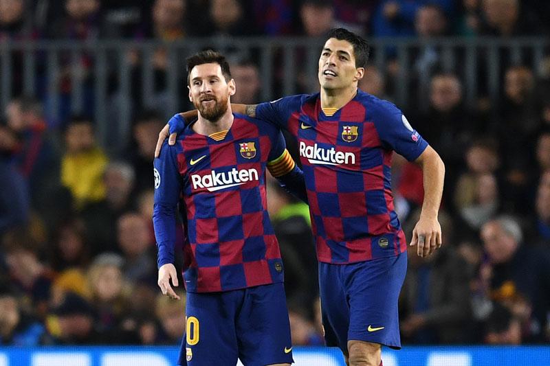 Messi và Suarez khi còn sát cánh với nhau.