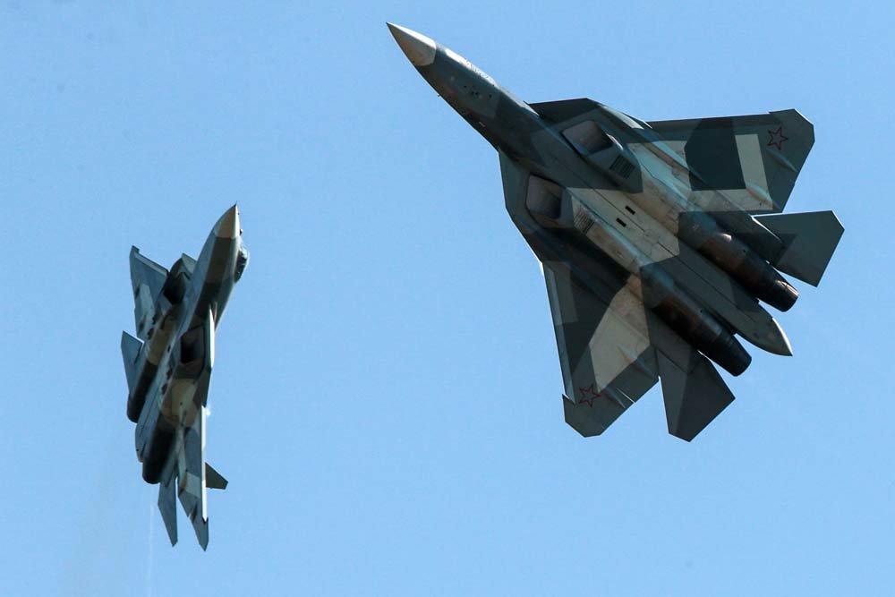Tiêm kích tàng hình Su-57 của Nga. Ảnh: Military Watch.