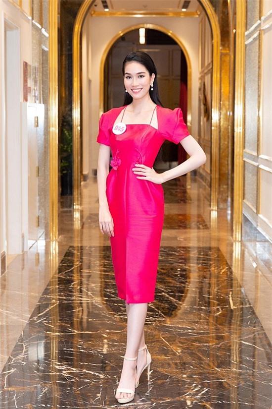 Phương Anh năm nay 22 tuổi, cao 1,76m. Năm 2015, cô còn đoạt giải quán quân cuộc thi Nữ sinh áo dài Việt Nam.