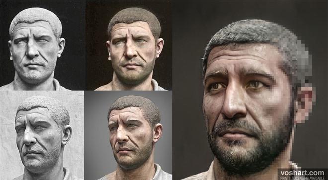 Đây chính là khuôn mặt thật của các hoàng đế La Mã huyền thoại, được AI phục dựng từ tượng điêu khắc trong bảo tàng - Ảnh 2.
