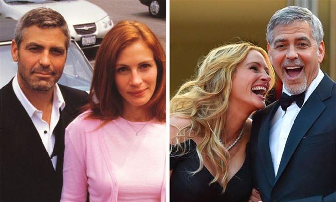 Julia Roberts và George Clooney cũng là đôi bạn khác giới thực sự hiếm có ở Hollywood. Họ gặp nhau lần đầu ở phim trường Ocean's Eleven năm 2001 và từ đó đã hợp tác ăn ý trong 4 bộ phim điện ảnh. Ngoài đời, bộ đôi cũng thường xuyên gặp gỡ và trợ giúp nhau. Clooney từng chăm sóc cho Người đàn bà đẹp khi cô mang bầu. Dù đã lập gia đình, cả hai vẫn gắn bó như anh em.