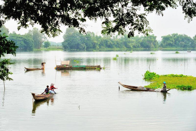 Búng Bình Thiên là hồ nước tọa lạc tại thuộc phía Bắc huyện An Phú, tỉnh An Giang. Ảnh: An Phú.