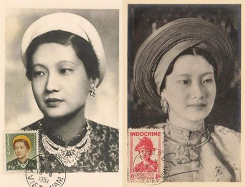 Hai con tem có in hình Nam Phương Hoàng hậu.