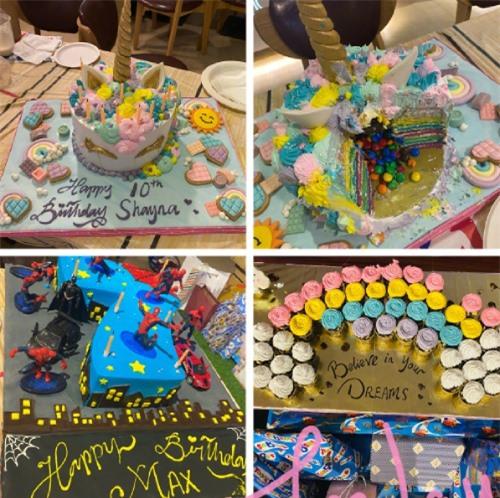 Những chiếc bánh đa dạng màu sắc được tặng cho Max và Shayna (con gái Ngô Tôn).