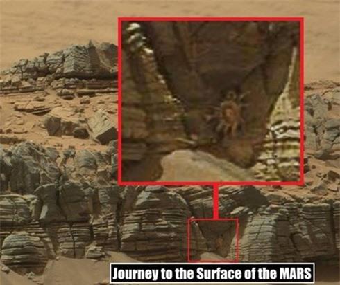 Bức ảnh chụp 'người ngoài hành tinh' trên Sao Hỏa đang gây xôn xao hiện nay