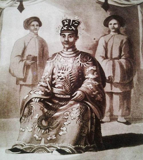 Chân dung vua Minh Mạng.
