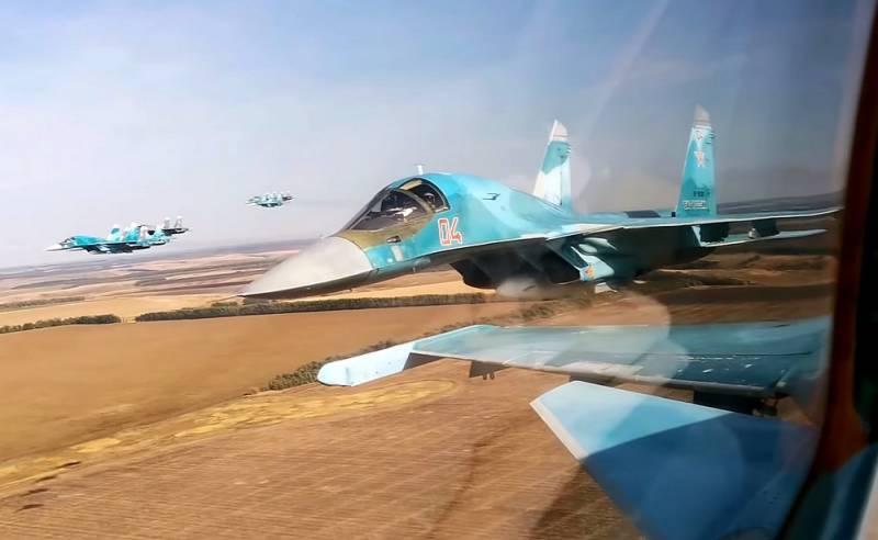 Biên đội máy bay ném bom tiền tuyến Su-34 của Nga. Ảnh: TASS.