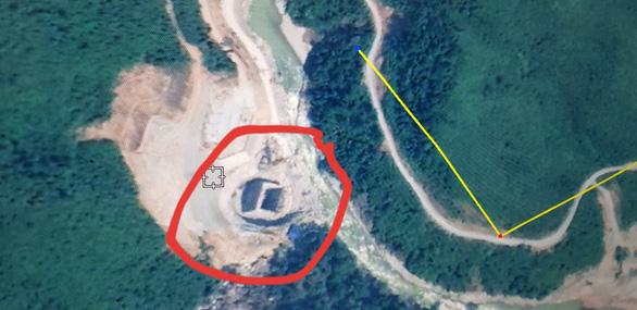Hiện trường khu vực Thủy điện Rào Trăng 3 được chụp qua Google Map.
