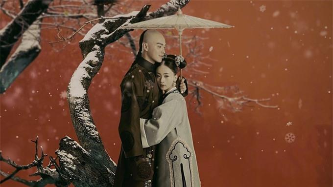 Ngô Cẩn Ngôn và Hứa Khải tình tứ trong phim Diên Hy công lược.