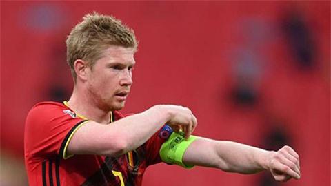 De Bruyne chấn thương, bị ĐT Bỉ trả về Man City