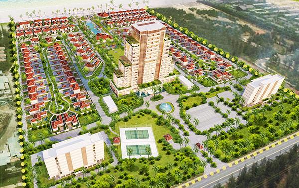 Phối cảnh dự án Khu nghỉ dưỡng và biệt thự cao cấp ven biển Nam Phát sau khi điều chỉnh tăng vốn đầu tư từ 380 tỷ đồng lên 2.112,8 tỷ đồng