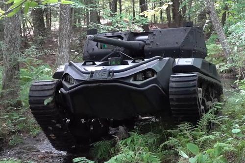 Nguyên mẫu xe tăng hạng nhẹ không người lái M5 của Mỹ. Ảnh: TASS.