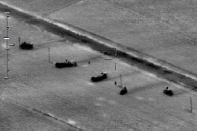 Máy bay không người lái Azerbaijan tấn công tổ hợp tên lửa đạn đạo chiến thuật Iskander-E của Armenia. Ảnh: Avia-pro.
