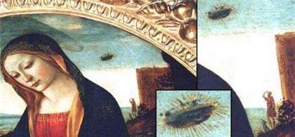 Hiện tượng lạ về vật thể giống UFO xuất hiện trong tranh cổ