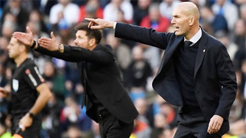 Người ta cho rằng, Zidane (phải) đang chịu nhiều ảnh hưởng của người đồng nghiệp Simeone