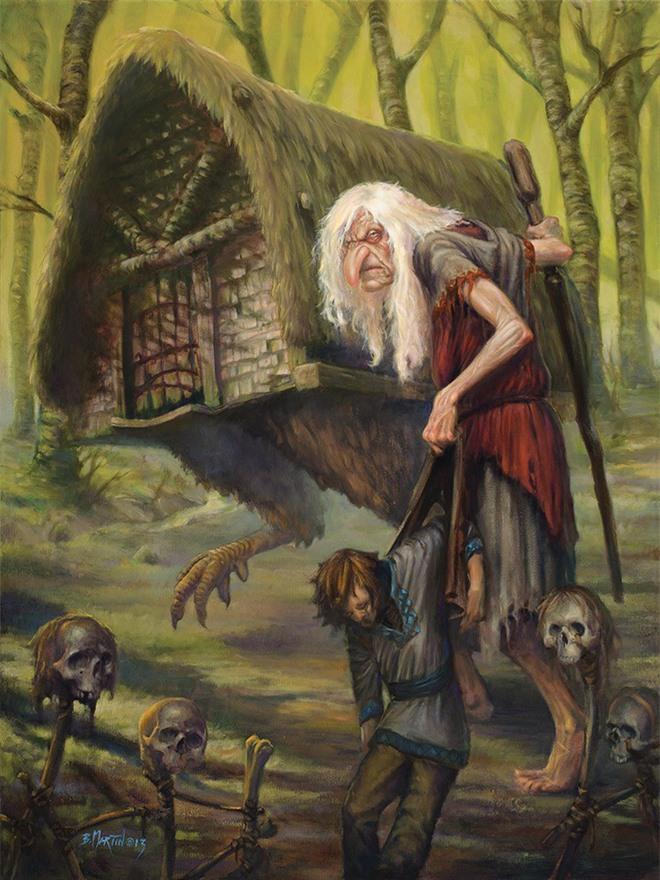 Baba Yaga xuất hiện trong nhiều tác phẩm truyện cổ tích