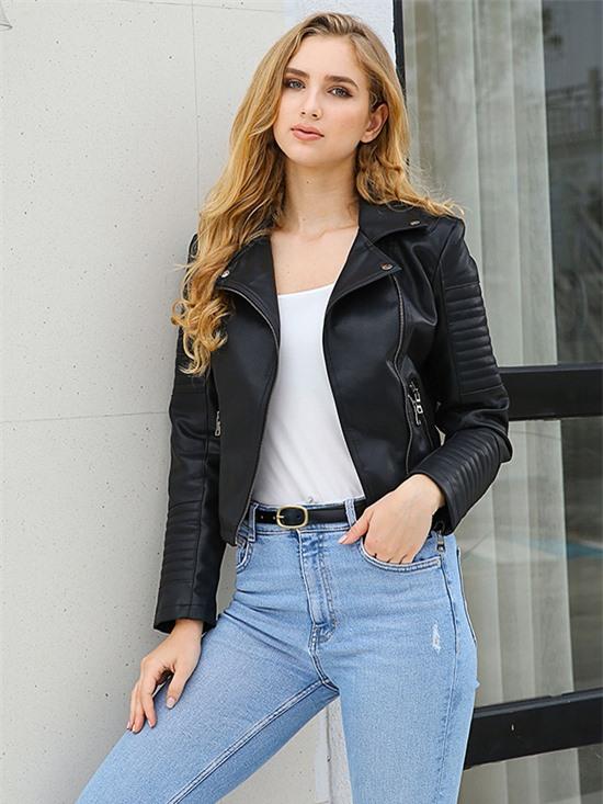 Áo khoác da cho nàng hiện đại