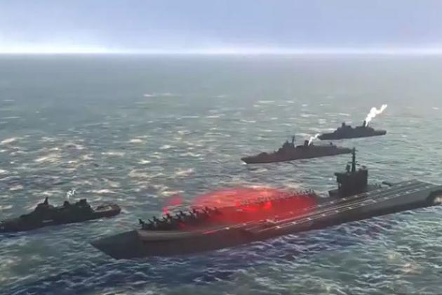 Phiên bản phi hạt nhân của ngư lôi Posedon sẽ được sử dụng để tấn công các nhóm tác chiến tàu sân bay đối phương. Ảnh: TASS.