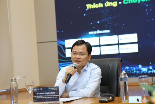 Bí thư thứ nhất Trung ương Đoàn, Chủ tịch Trung ương Hội LHTN Việt Nam Nguyễn Anh Tuấn chia sẻ tại buổi họp báo.