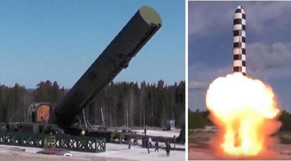 Tên lửa đạn đạo liên lục địa hạng nặng RS-28 Sarmat được Nga phát triển nhằm thay thế Satan. Ảnh: TASS.