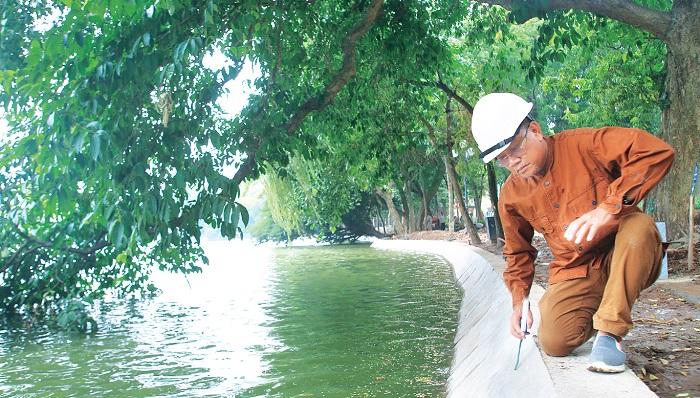 Anh hùng Lao động Hoàng Đức Thảo, Tổng giám đốc Busadco kiểm tra công trình kè hồ Gươm.