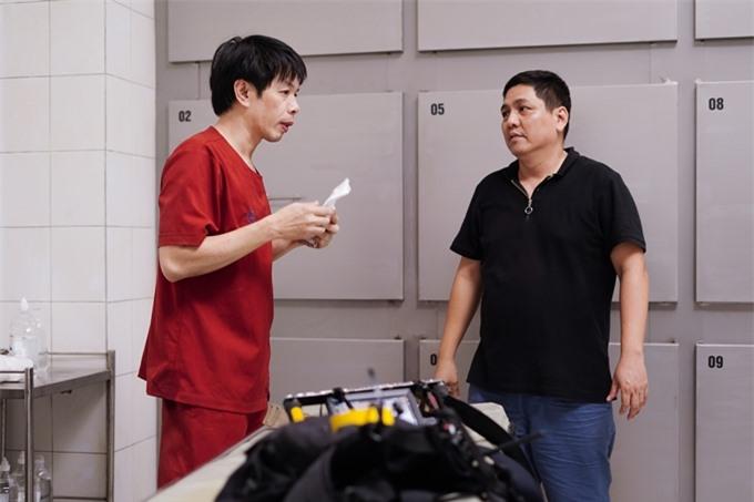 Đạo diễn Đức Thịnh chỉ đạo diễn xuất cho Thái Hòa.