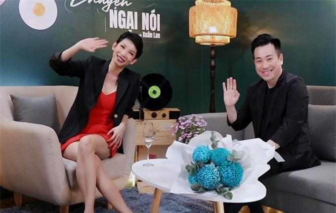 Xuân Lan và khách mời Lâm Quang Tiến.