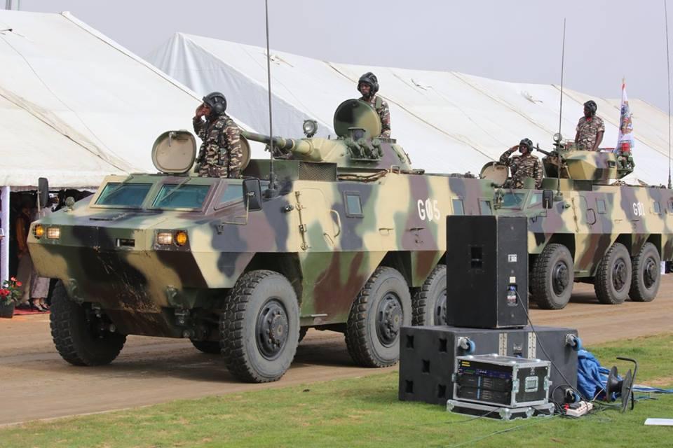 Xe bọc thép chở quân WZ-523 của Namibia với tháp pháo tương tự loại lắp trên BMP-1. Ảnh: TASS.