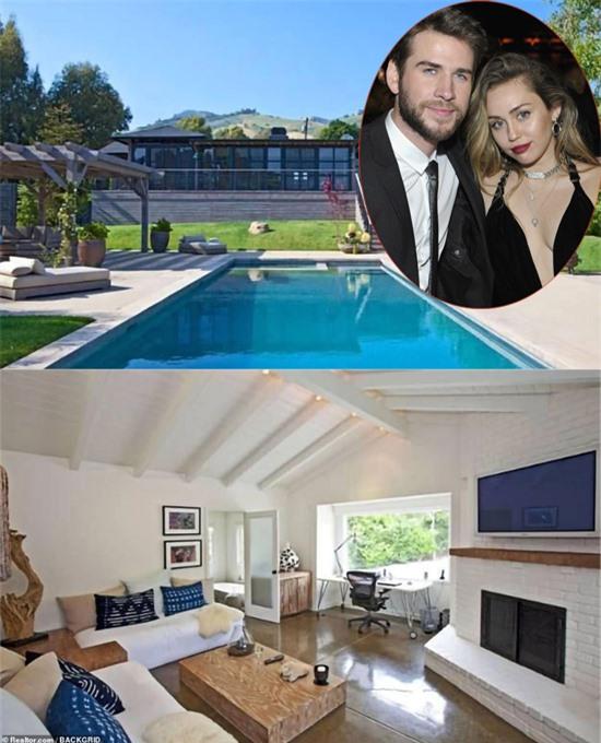 Biệt thự Liam từng sống cùng Miley từ năm 2016 đến cuối năm 2018.