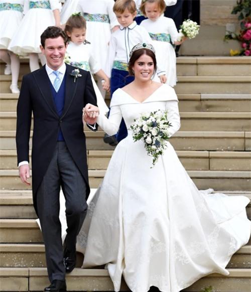 Vợ chồng Eugenie trong đám cưới tháng 10/2018. Ảnh: AFP.