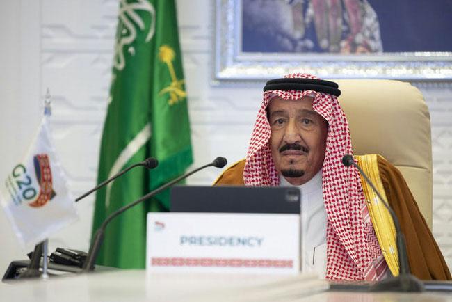 Quốc vương Saudi Arabia Salman bin Abdulaziz tại Hội nghị G20. (Ảnh: AP)