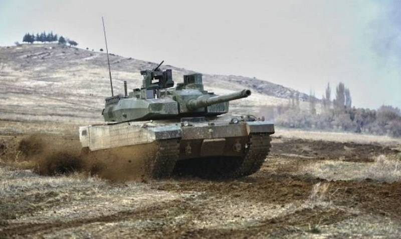 Xe tăng chiến đấu chủ lực Altay của Thổ Nhĩ Kỳ. Ảnh: Topwar.