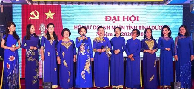 Ban Chấp hành Hội Nữ doanh nhân Bình Dương nhiệm kỳ 2020-2025 ra mắt Đại hội.