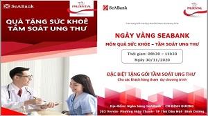 SeABank Bình Dương tổ chức tầm soát ung thư miễn phí