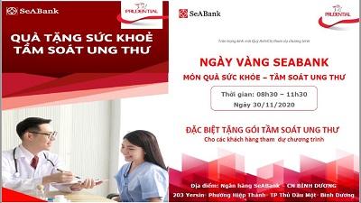 """SeABank Bình Dương tổ chức """"Tầm soát ung thư miễn phí"""" nhằm tri ân khách hàng."""