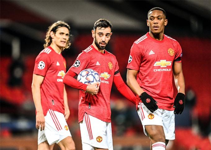 Hàng công Man United thi đấu rất linh hoạt ở trận này