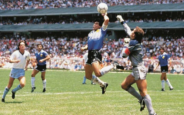 Bàn thắng 'Bàn tay của chúa' của Maradona.