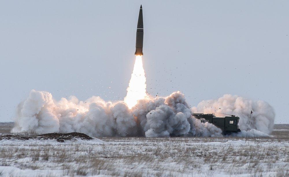 Tổ hợp tên lửa đạn đạo chiến thuật Iskander-M của Nga. Ảnh: TASS.